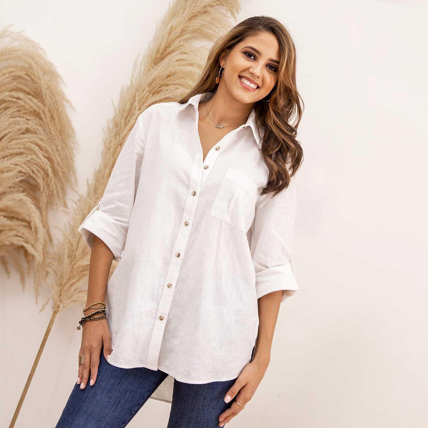 Camisa Lino Oversize Cod. 7210035