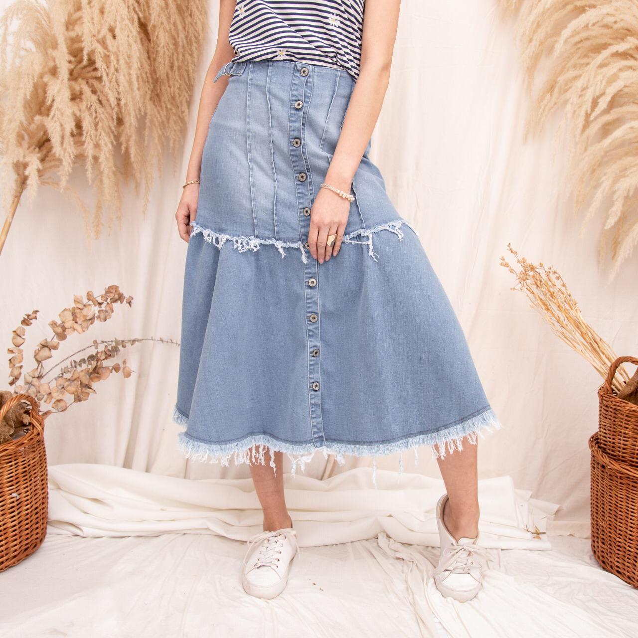 Pollera Larga Jeans Cod. 1200205