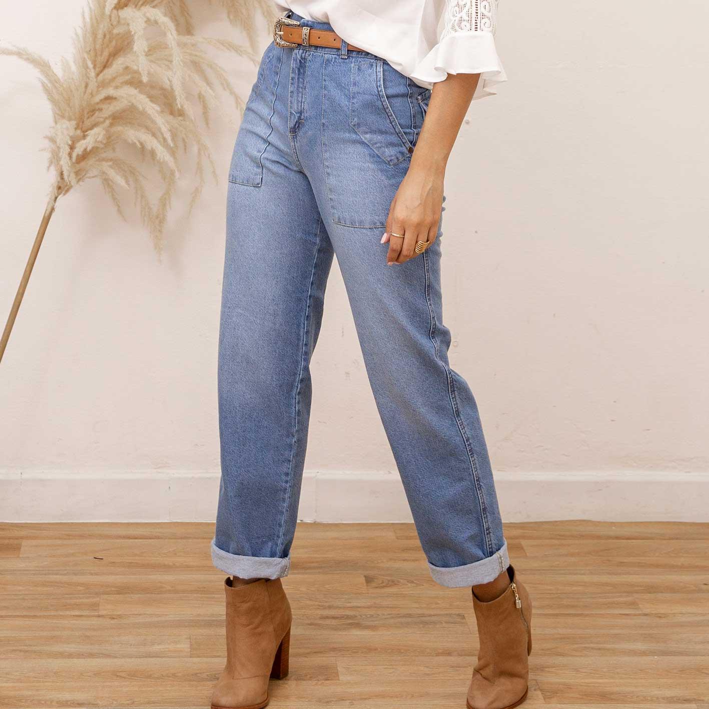 Pantalón Recto Jeans Cod. 1210090