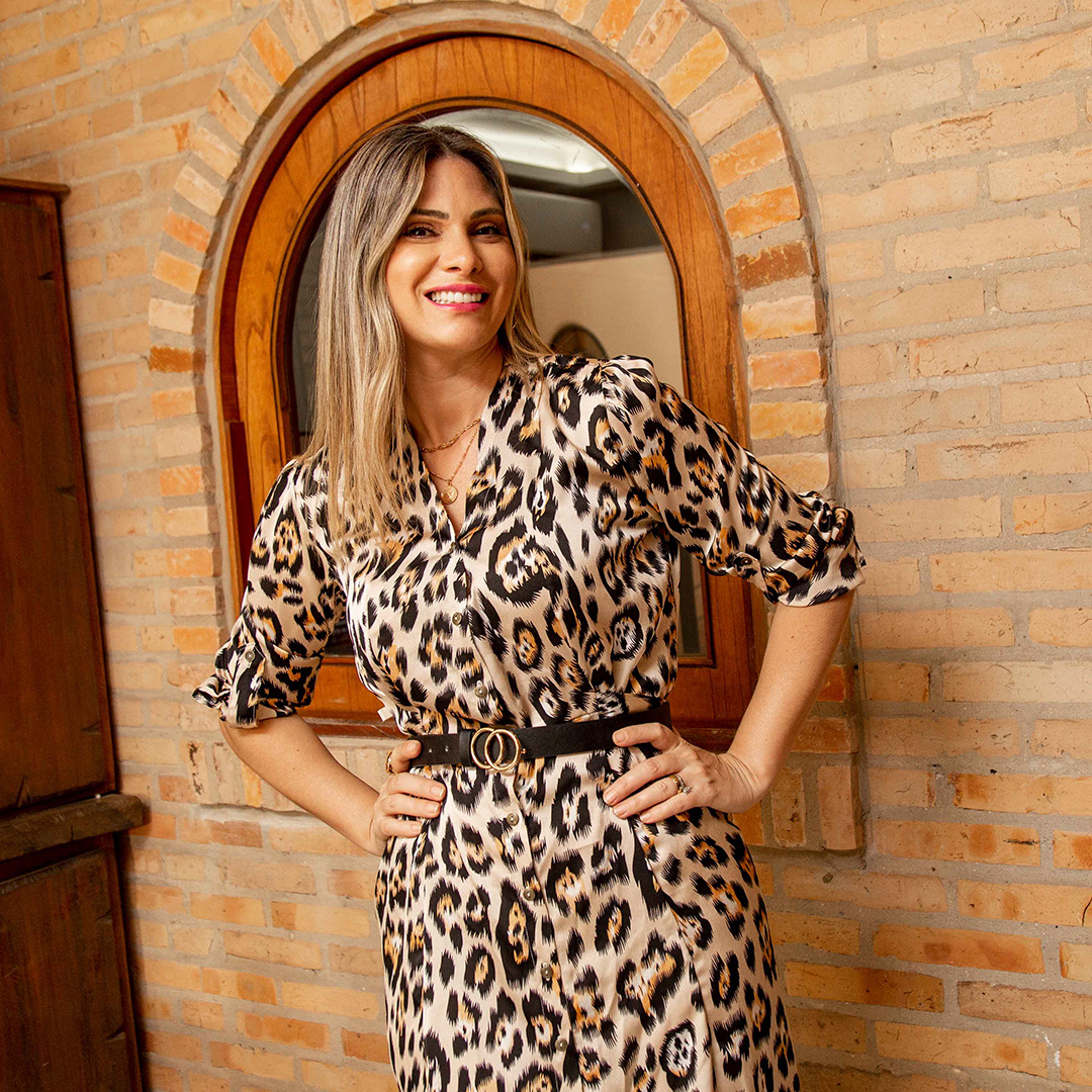 Vestido Largo Animal Print Cod. 7190182