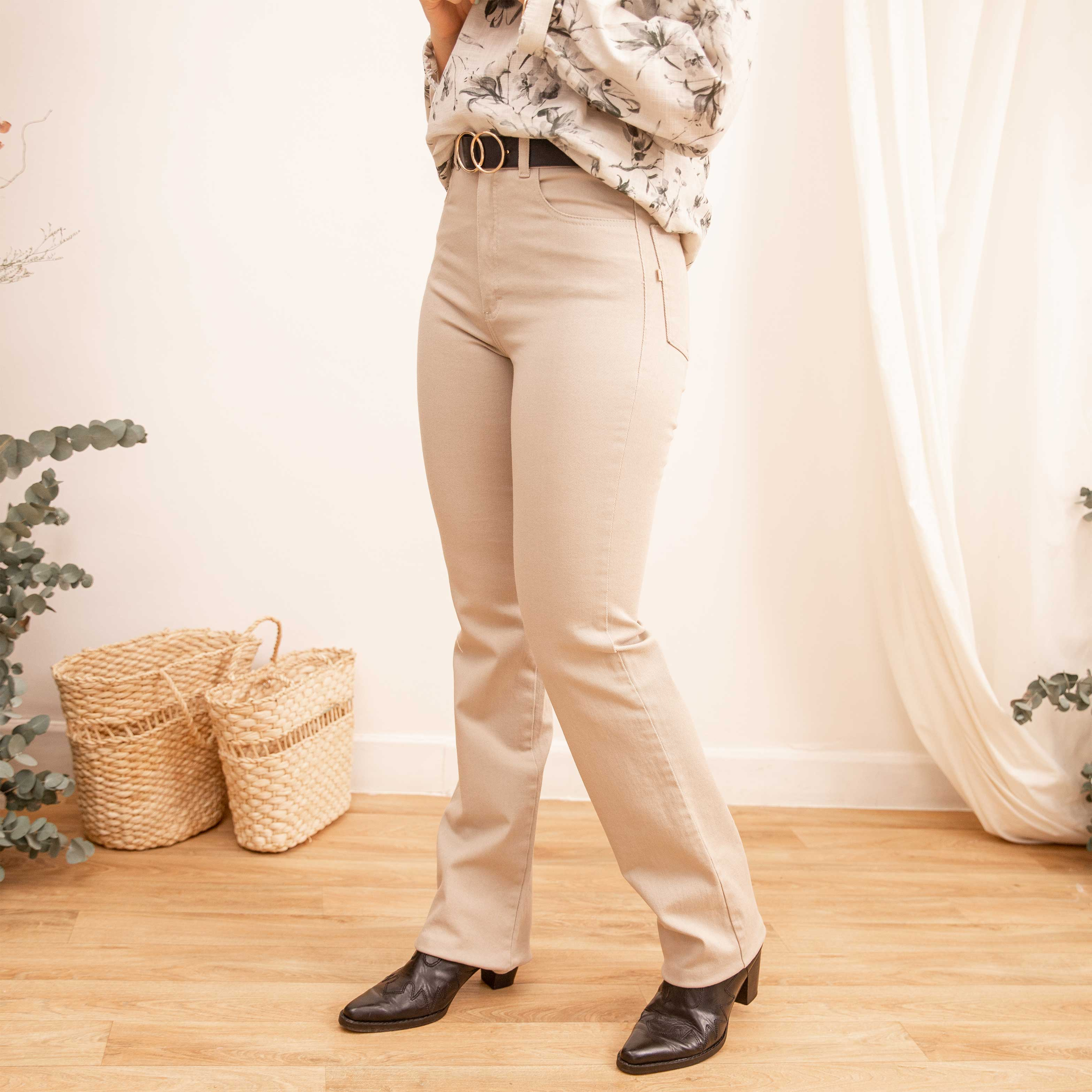 Pantalón Straight Beige Cod. 1210133