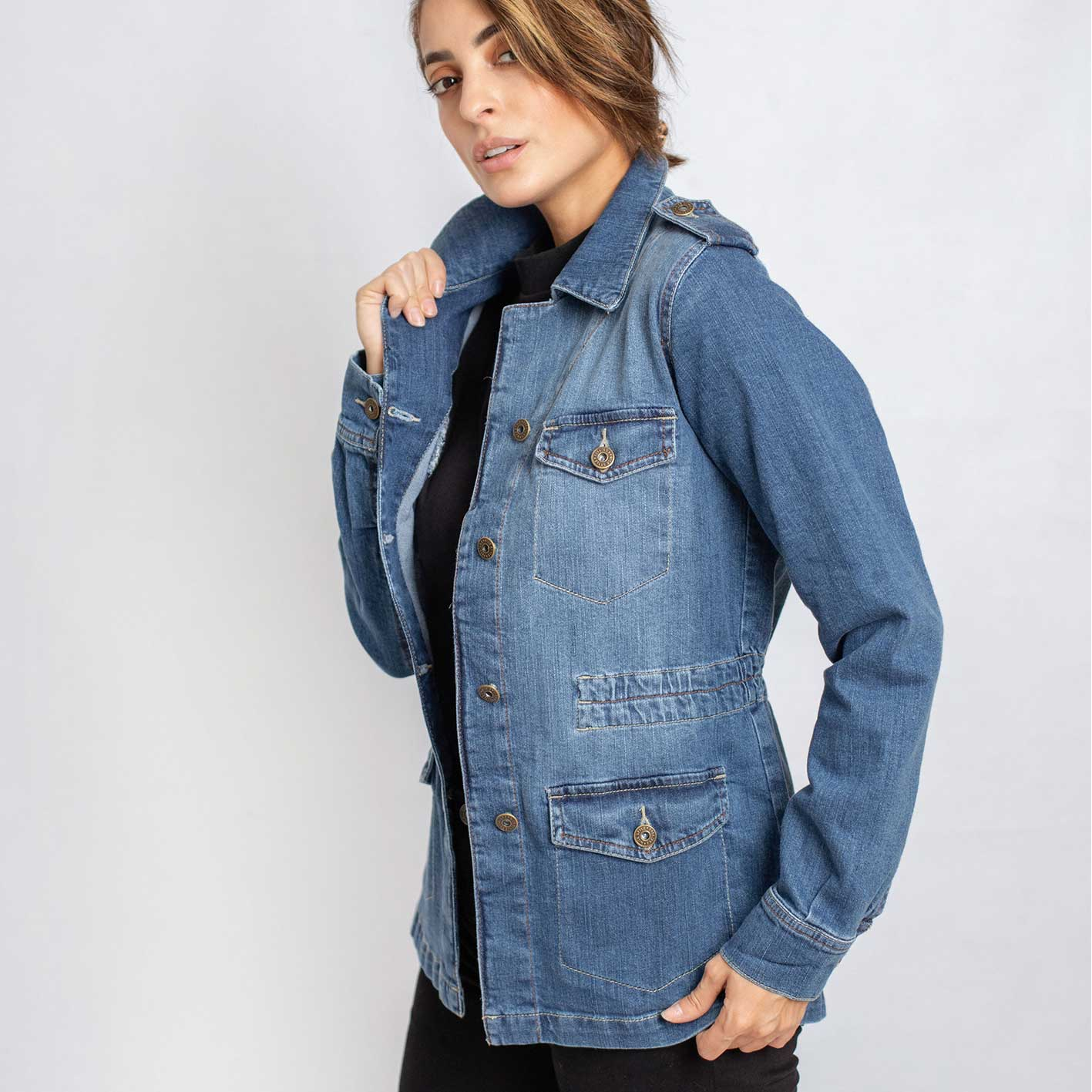 Parka jeans elast. Cod. 1210076